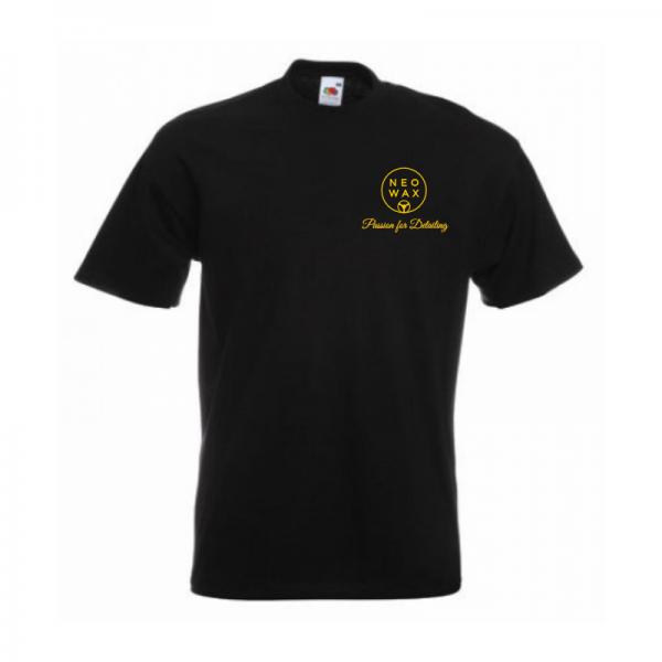 """NEOWAX T-Shirt mit Stickerei """"Passion for Detailing"""" schwarz"""