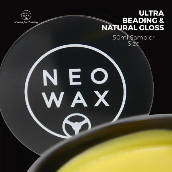 NEOWAX Car Wax №1 Wachs Autowachs mit 50% T1-Carnauba und Siliziumdioxyd (SiO2) 50ml Sampler