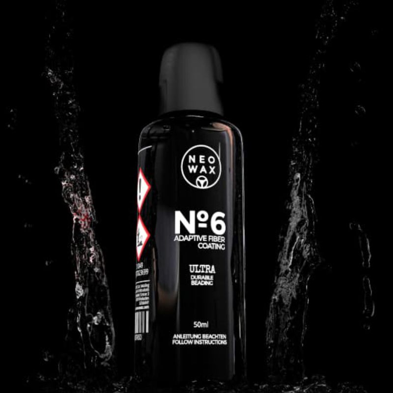 NEOWAX 6 15ml Hightech ultra resitentes Fiber Coating, Set inkl. Suede Tücher, Coating-Applikator, Mikrofasertuch